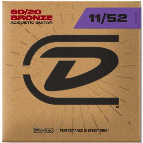 Dunlop 11-52 木吉他弦 80/20 Bronze DAB1152