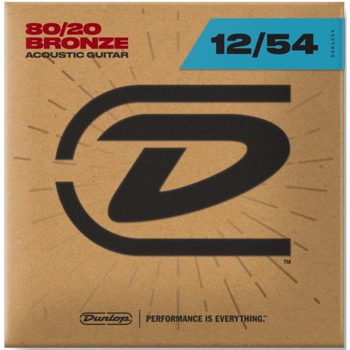 Dunlop 12-54 木吉他弦 80/20 Bronze DAB1254