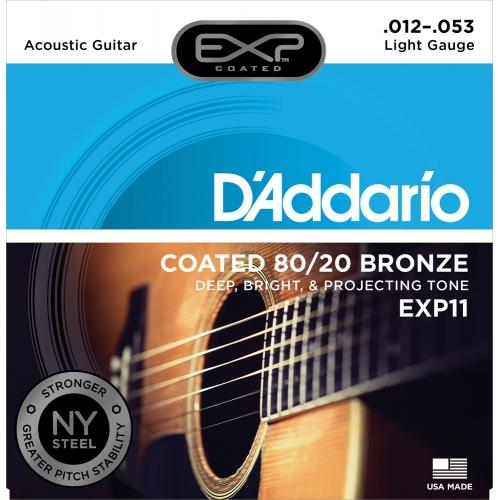 D'Addario EXP11 12-53 木吉他弦 80/20 Bronze 黃銅