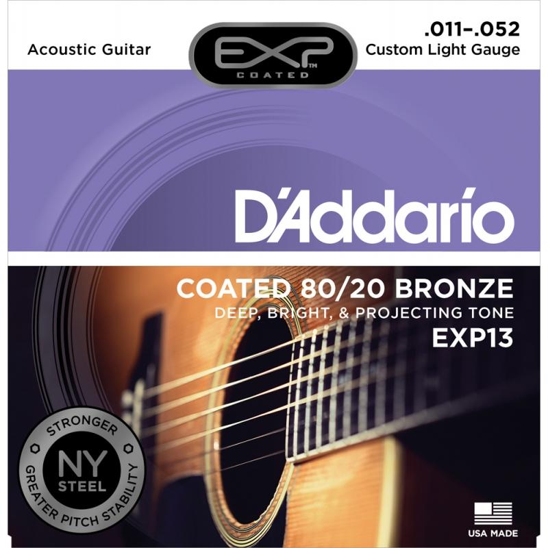 D'Addario EXP13 11-52 木吉他弦 80/20 Bronze