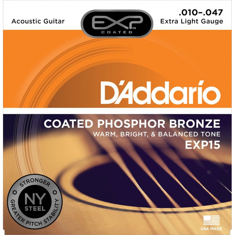 D'Addario EXP15 10-47 木吉他弦 Phospher Bronze 磷青銅