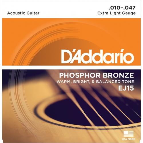 D'Addario EJ15 磷青銅民謠吉他弦 10-47
