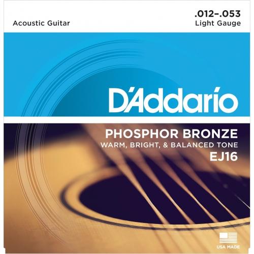 D'Addario EJ16 磷青銅民謠吉他弦 12-53