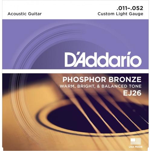 D'Addario EJ26 磷青銅民謠吉他弦 11-52