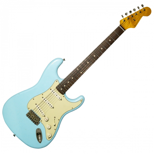 Nashguitars 客製仿舊吉他 S63 Sonic Blue / 輕度仿古 Light / 玫瑰木指板