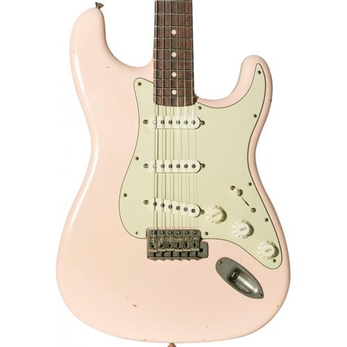 Nashguitars 客製仿舊吉他 S63 粉紅色 / 輕度仿古 Light / 玫瑰木指板