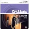 D'Addario EJ13 黃銅民謠吉他弦 11-52